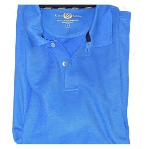 Club Room Performance Men's Polo Large